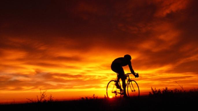 Sunset bike ride