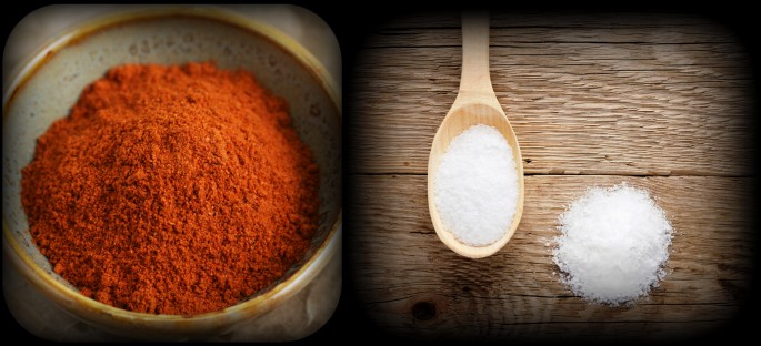 salt and cayenne