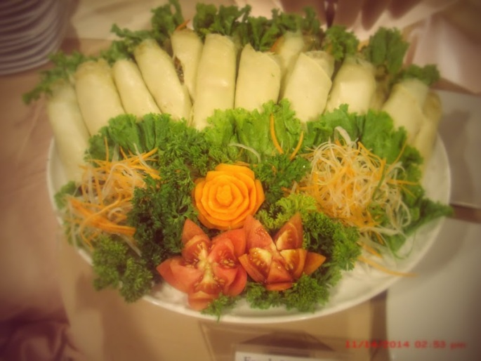 fresh vegetable asada spring roll