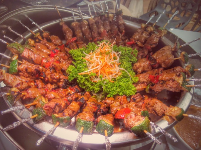 mini pork sate skewers