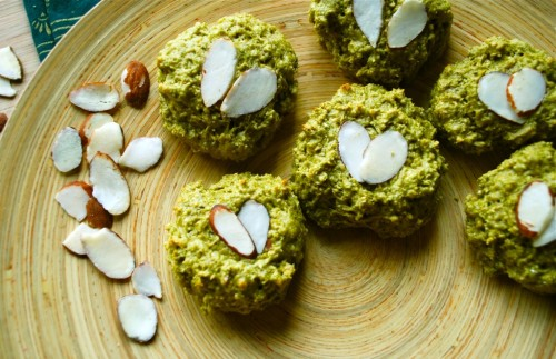 green tea sweetheart cookies