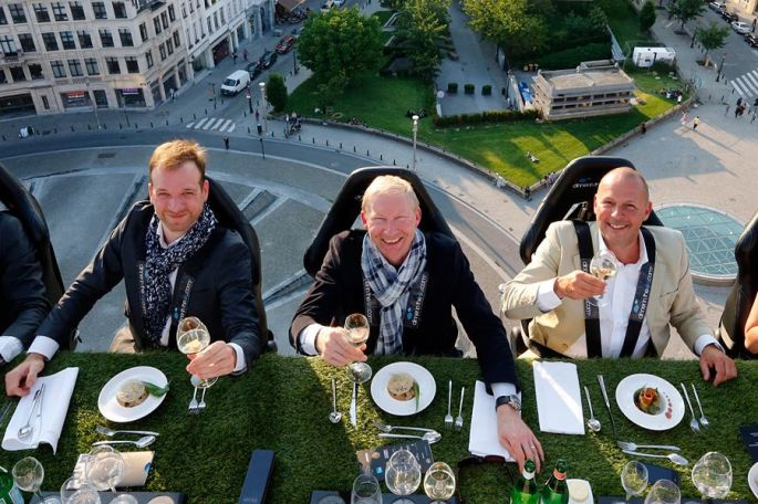 Eat In Style: At Dinner In The Sky In Brussels Belgium